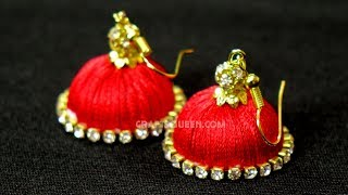 How To Make Jimikki Kammal | Jhumka earrings at home || DIY Jhumka earrings Making Tips width=