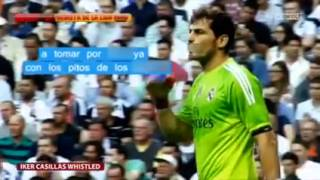 Real Madrid fans booing Casilas