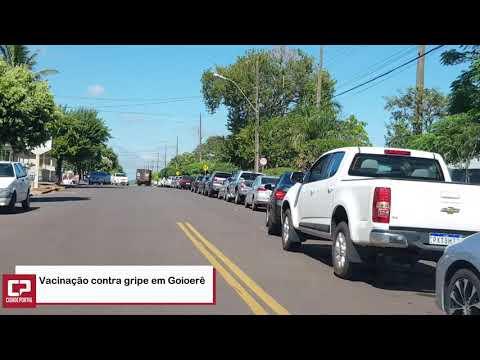 Procura por vacina contra gripe é alta em Goioerê - Cidade Portal
