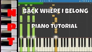 Otto Knows ft. Avicii - Back Where I Belong - Piano Tutorial