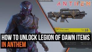 How to unlock Anthem's Legion of Dawn items - Pre-order rewards