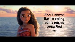 Moana How Far I'll Go Lyrics Auli'i Cravalho