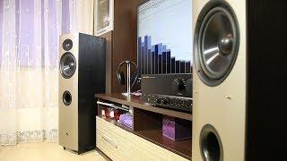 Athena speakers + Marantz PM-50 amplifier bass excursion test