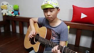 BTS - 봄날(Spring Day) fingerstyle guitar cover by 10year-old kid Sean Song