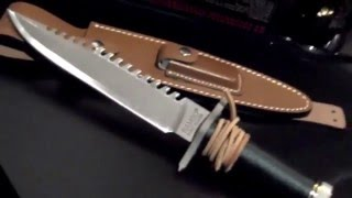 RAMBO FIRST BLOOD (1982) John Rambo Survival knife prop by HCG/Master Cutlery 2014 New Version