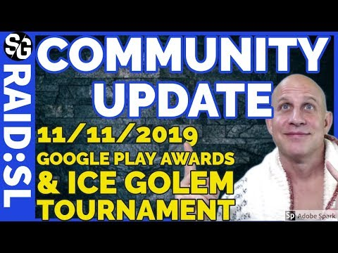 RAID SHADOW LEGENDS | COMMUNITY UPDATE 11/10/2019 | GOOGLE PLAY VOTE & ICE GOLEM TOURNAMENT