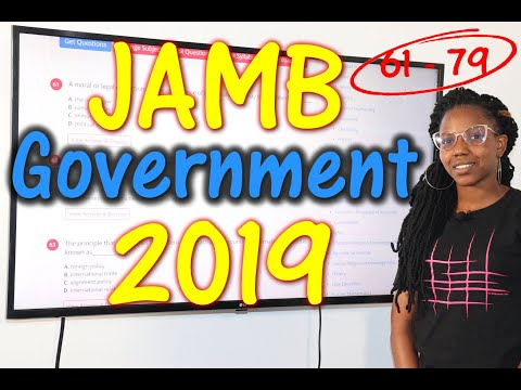 JAMB CBT Government 2019 Past Questions 61 - 79