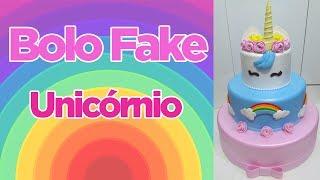 Bolo Fake Unicórnio - Inspire-se | Criatividades da Dê