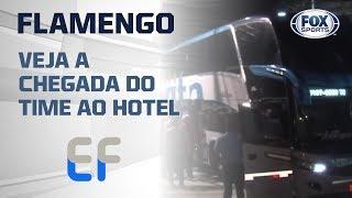 FESTA DA TORCIDA DO FLAMENGO EM FORTALEZA! Veja a chegada do time ao hotel