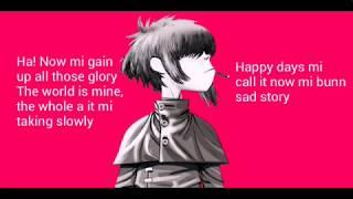 Gorillaz - Saturnz Barz (lyrics)