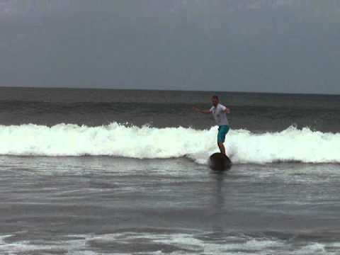 Nicaragua surfing video at Remanso Beach south of San Juan del Sur by a rookie with NicaEco.com