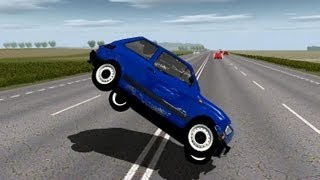 Fiat 126p cruise and crash test No.1 (Links) - WR2
