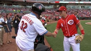 LAD@CIN: Gennett gifted a scooter for four-homer game