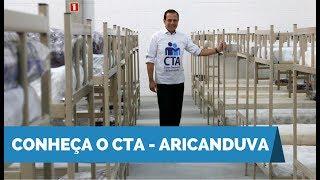 João Doria apresenta as instalações do 2º Centro Temporário de Acolhimento - CTA