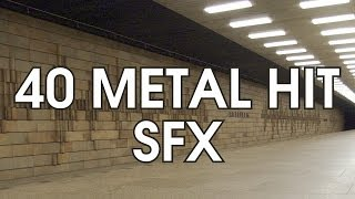 40 Epic Metal Reverb Hit Sound Effects [Free High Quality Download]