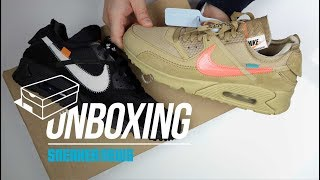 sports shoes 1c8bf 4a7e8 Off White Air Max 90 Unboxing + Review