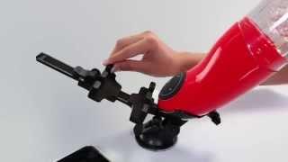 video Rotační a přirážecí umělá vagina Mega-Bator Pussy