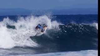 Uri Lanham KNEEBOARDING -wreck bay- PIPE EASTERLY SWELL
