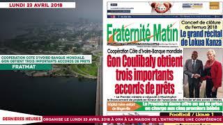 Le Titrologue du 23 Avril 2018/ Tiken Jah brave ses parents