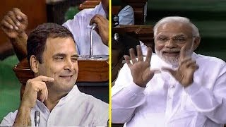 Rahul Gandhi's hug & wink act and how PM Modi responded   FULL VIDEO