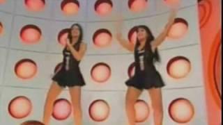 Milene dançando na  Eliane e no Silvio Santos.