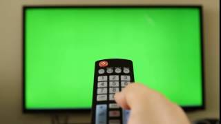 Remote control changing channel - Controle Remoto Trocando Canal - Green Screen - Chroma Key
