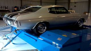 1970 Chevelle SS 454 Quarter 1/4 Mile Run On A Mustang Dyno Drag Race
