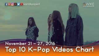 Top 10 K-Pop Videos Chart (November 21 - 27, 2016)