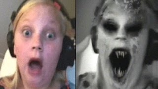 Girl playing Snapchat 'zombie' feature gets frightened || Scary Viral video with sound 2015