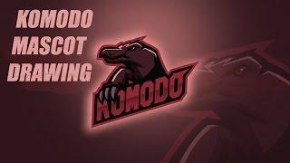 Komodo Dragon Mascot Logo Drawing Process//Speedart//Adobe Illustrator