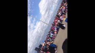 Grupo de danza yurac sisa en Atucucho