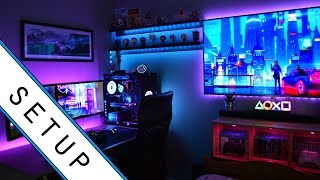 Gaming Setup / Room Tour! - 2019 - Ultimate Small Room Setup!