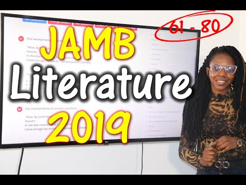 JAMB CBT Literature in English 2019 Past Questions 61 - 80