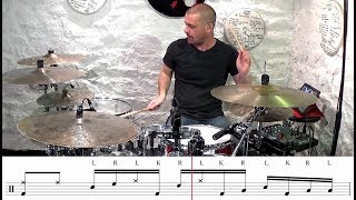 Drum lesson : Easy gospel chop 9!