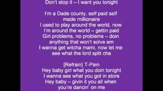 PITBULL - Hey Baby (Drop It To The Floor) - Clip Parole (LYRICS)