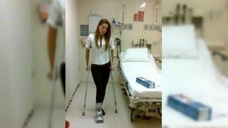 Ninel Conde se recupera de lesión en el pie