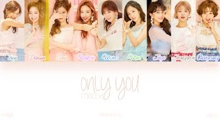 [HAN ROM ENG] TWICE (트와이스) - ONLY YOU (ONLY 너) (Color Coded Lyrics)