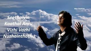 Anjali Anjali pushpanjali - Female voice -Duet 1994 - AR Rahman - Tamil video song   Mas BGM width=