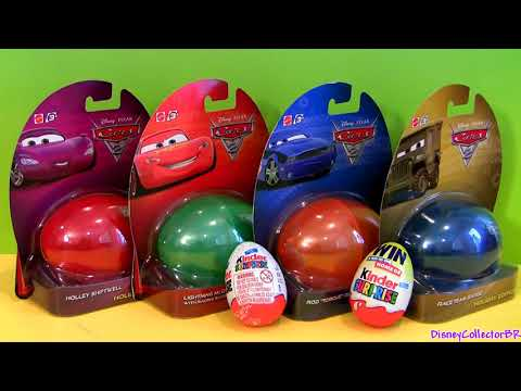 Cars 2 Easter Eggs Holiday Edition 2013 Lightning McQueen Disney Pixar toys Kinder Egg Toy Surprise