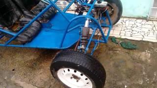Kart Cross motor fusca e caixa de gol
