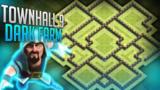 "Clash of Clans - ""BEST TOWNHALL 9 DARK ELIXIR FARMING BASE!"" - Air Sweeper  BASE!!"