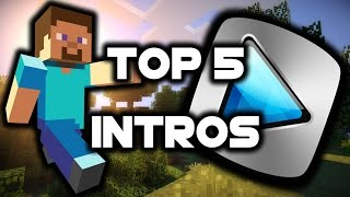 Minecraft: Top 5 FREE Intro Templates for Sony Vegas/Movie Maker (No Text)