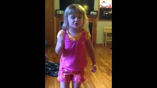 4 year old Lynyrd Skynyrd fan singing Gimme Three Steps