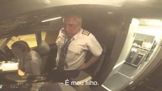 Surpresa de filho pra pai no vôo da Azul. (Emocionante dia dos pais).