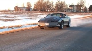 Pontiac Trans Am Flying Down the Backroads