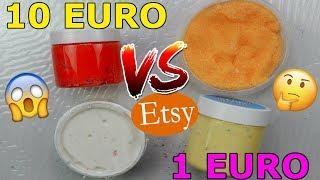 SLIME COMPRATI DA 10 EURO CONTRO SLIME 1 EURO DA ETSY *FATTI IN CASA!* Iolanda Sweets
