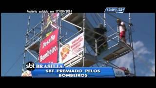 Equipe do SBT Brasília ganha prêmio do Corpo de Bombeiros