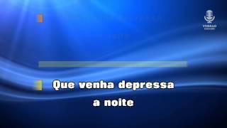 ♫ Karaoke QUE VENHA DEPRESSA A NOITE - Bandalusa