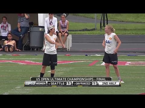 Video Thumbnail: 2015 U.S. Open Club Championships, Women's Final: San Francisco Fury vs. Seattle Riot