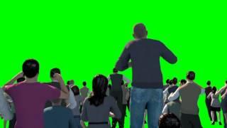 Green Screen Crowd People Cheer Acclaim Concert - Footage PixelBoom